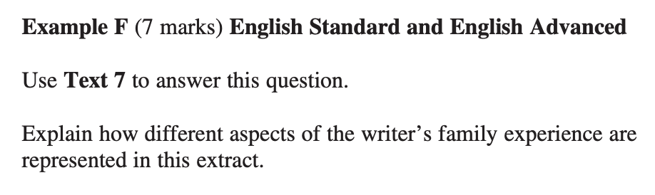 HSC English Unseen Texts Question