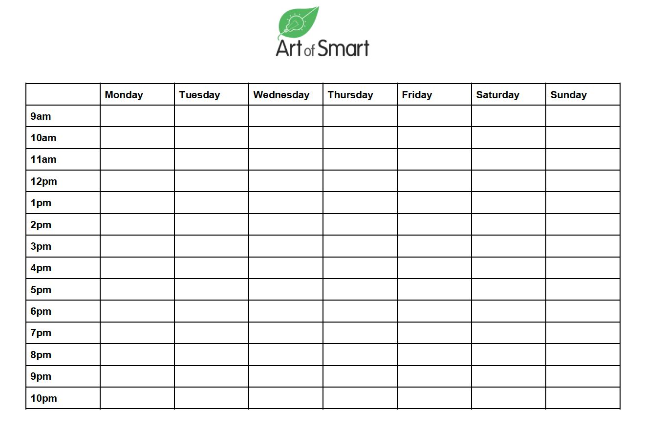 How to Beat Procrastination - Timetable