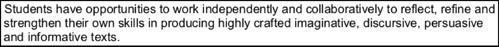 hsc english module c craft of writing rubric