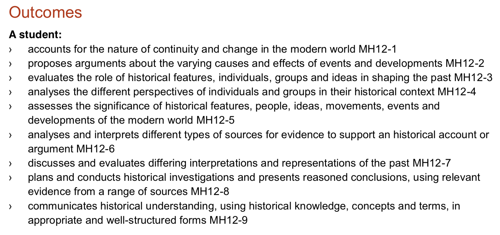 hsc modern history change in the modern world