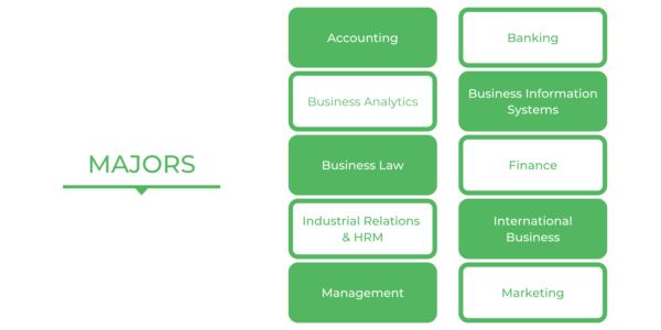 Bachelor of Commerce USYD - Majors