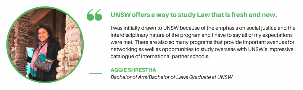 UNSW Law Student Quote