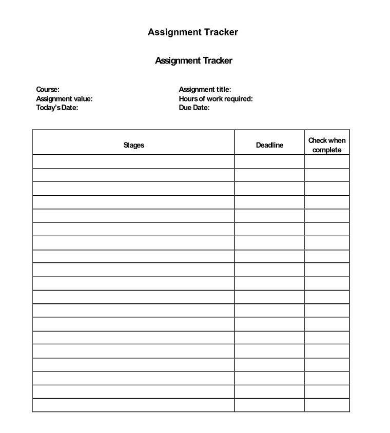 English Writing Skills - Assignment Tracker
