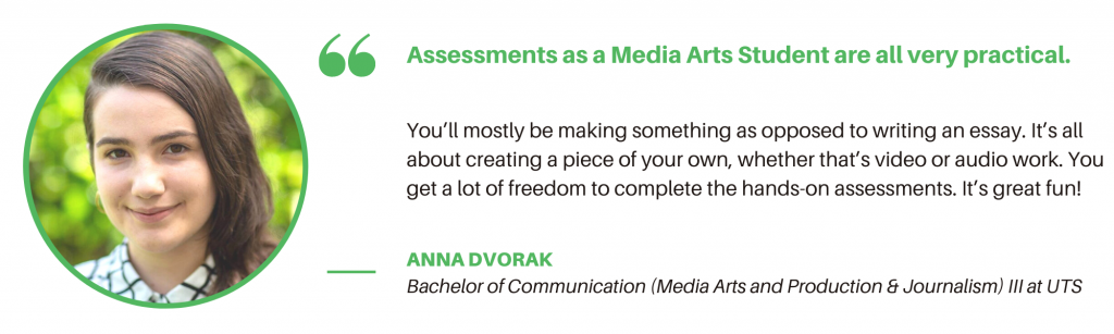 UTS Media Arts and Production - Student Quote