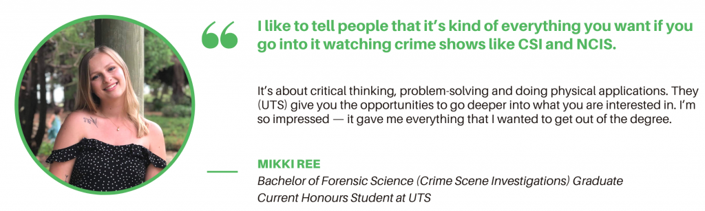 Forensic Science UTS - Student Quote