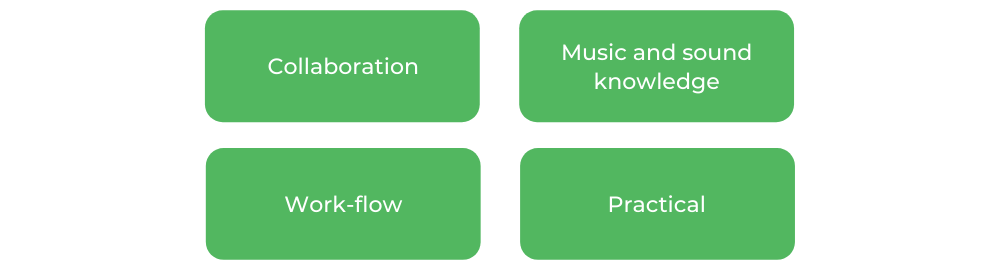 UTS Music and Sound Design - Skills