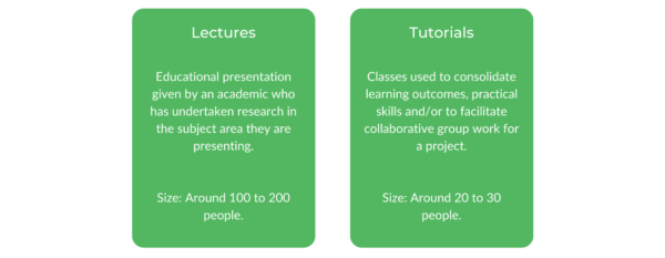 Bachelor of Arts Macquarie - Class Structure