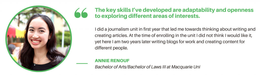 Bachelor of Arts Macquarie - Student Quote