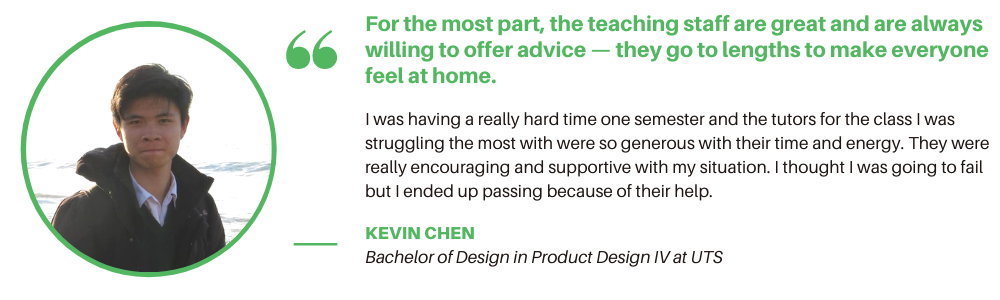 Product Design UTS - Student Quote