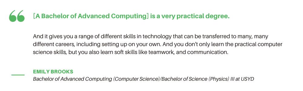 USYD Advanced Computing - Student Quote