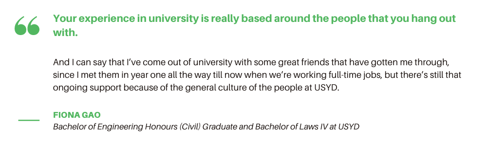USYD Civil Engineering - Student Quote