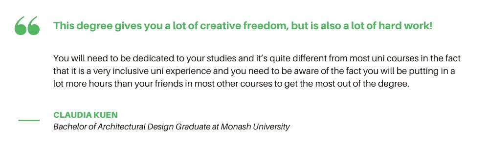 Monash University Architecture - Quote
