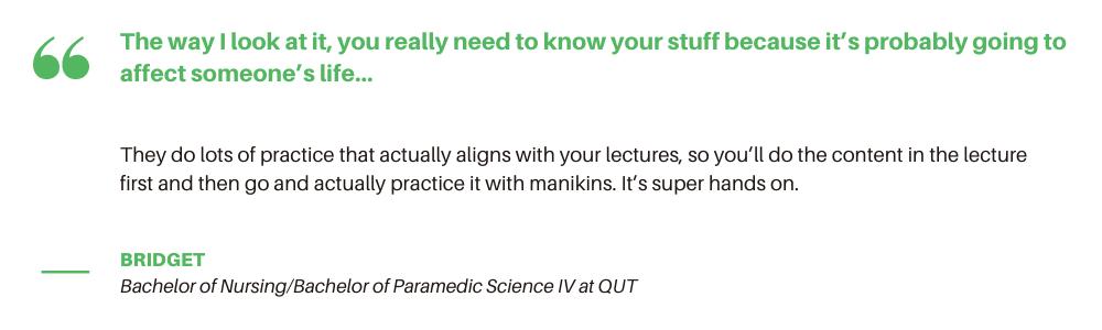 QUT Nursing - Quote