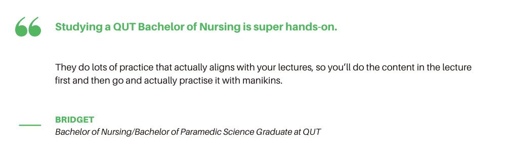QUT Bachelor of Nursing - Quote