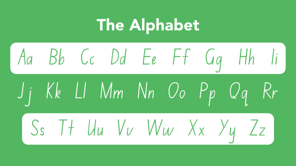 Learning Alphabet - Handwriting