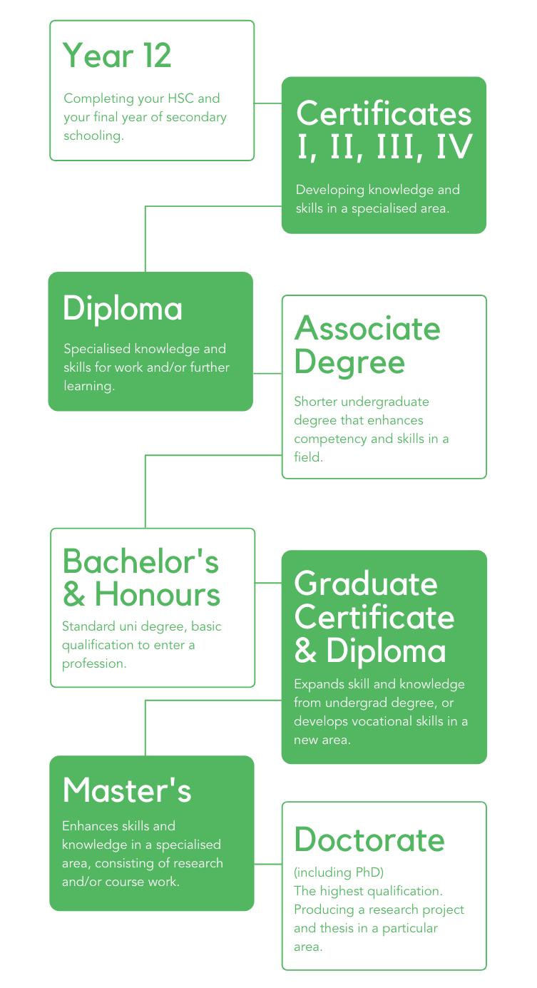 Tertiary Qualifications/Studies Infographic