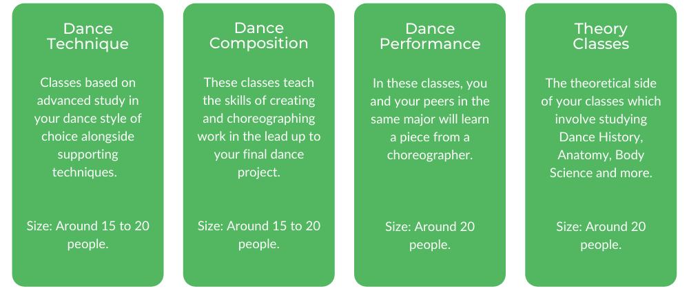 AMPA Bachelor of Dance - Classes